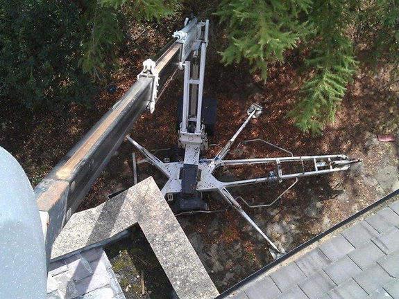 Delila Towable and tracked spiderlifts for roof and building maintenance from High Reaching Solutions near Malton York