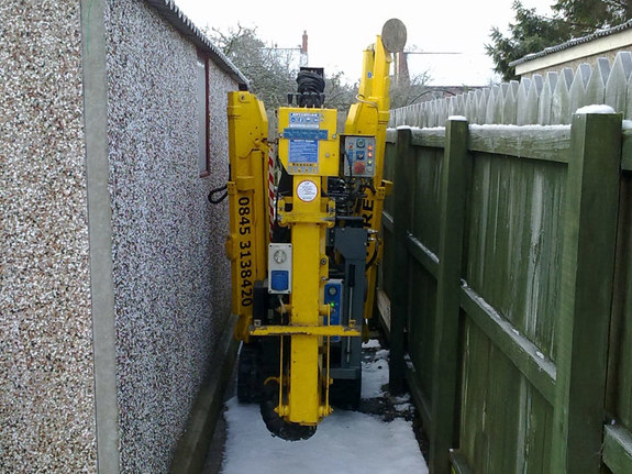 Tracked spiderlift cherrypickers building maintenance Malton York North Yorkshire