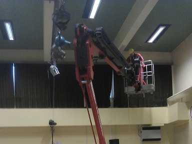 Tracked spiderlift cherrypicker for internal building inspection from High Reaching Solutions Malton York