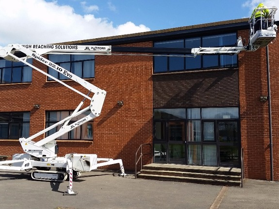 Selina 22m tracked spiderlift cherrypicker from High Reaching Solutions Malton York